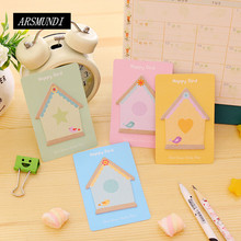 Kawaii Color House Sticky Notes Post it Planner Stickers Scrapbooking Memo Pad Notepad For Office Cute Stationery Papeleria