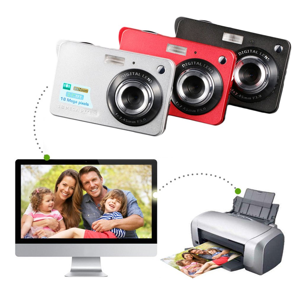 2.7 Inch TFT HD Digital Camera LCD Display 18MP 720P 8x Zoom Anti Shake Camcorder Video CMOS Micro Camera Children Gift