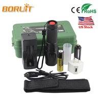 BORUIT 5000 Lumens XM L T6 Zoomable LED Tactical Flashlight Torch For 18650 Batteries Aluminum Self