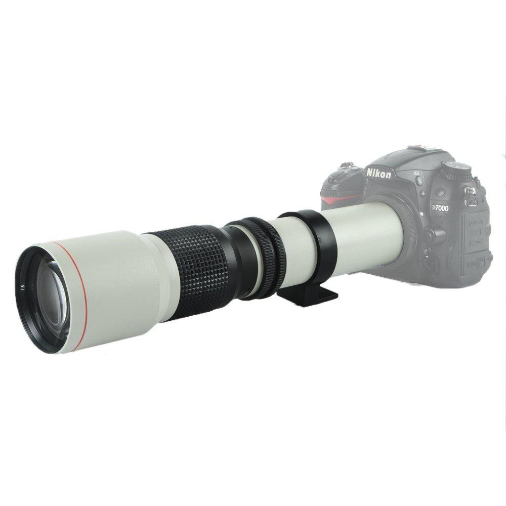 Vivitar 500mm //1000mm f//8 Telephoto Lens for Nikon D750 D700 D610 2X Converter