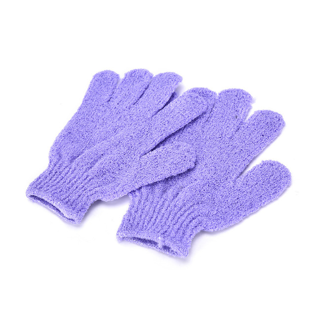 1 Pair Shower Bath Gloves Exfoliating Wash Skin Spa Massage Body Scrubber Cleaner Bathing Cleaning Products Random Color 3