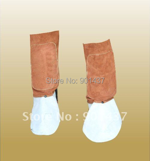 Leg and Feet Protection Cap 100% Cow Leather for Welding Metallurgy