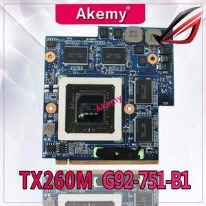 Akemy для For Asus G60VX MXM VGA G51VX G51V G60VX REV 2,1 P/N 60-NV3VG1000-D01 GTX 260M 1GB видеокарта G92-751-B1