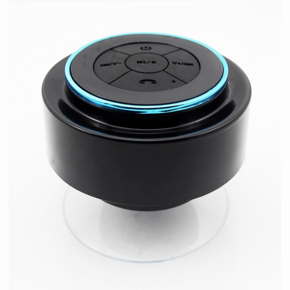 Portable wireless ipx7 waterproof shower speaker handsfree sucting mic car bluetooth 3 0 for Wireless bluetooth bathroom speaker