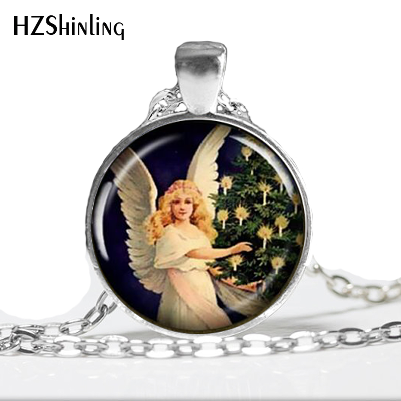 2ffedc496 NS-00148 New Fashion Glass Dome Pendant Guardian Angel necklace Pendant  Baby Necklace Art Glass