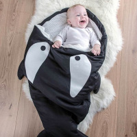 88 54cm Shark Sleeping Bag Newborns Sleeping Bag Winter Strollers Bed Swaddle Blanket Wrap Cute Bedding