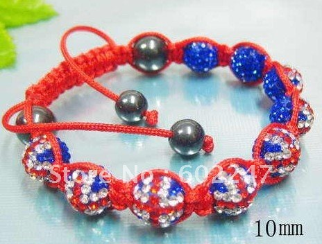 New Arrival Great Britain Flag Shamballa Bracelet Pave Crystal Clay Ball Beads Uk In Chain Link Bracelets From Jewelry Accessories On