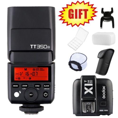 Godox TT350N TT350 GN36 2.4G TTL HSS Mini Flash Speedlite for Nikon Mirrorless Camera