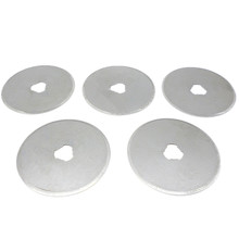 5pc 45mm Rotary Cutter Blades Fabric Paper Circular Cut Patchwork Leather Craft  Rotary Spare Blades 45*8*0.3mm For Olfa Fiskars