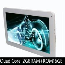 New design Quad Core 2GB 16GB Tablet Pc WiFi Bluetooth 2G 3G Phone Call Dual camera Dual SIM card 2G 16G Tablets Pc Mini Pad