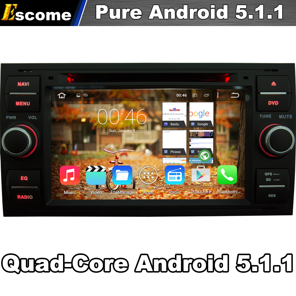Pure android 5 1 car dvd for ford kuga 2008 2011 mondeo 2003 2007 connect
