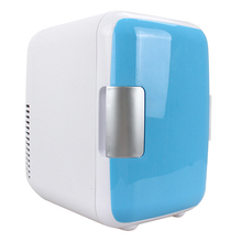 цена на Dual-Use 4L Home Car Use Refrigerators Mini Car Refrigerator Cooler Freezer Dormitory Car Cans Beer Cooler XM-48