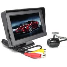 4.3 дюймов цветной TFT LCD экран широкий угол зрения автомобиль зеркало заднего вида монитор + камера