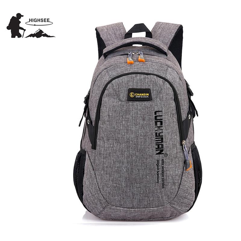 HIGHSEE Backpack School Bag Outdoor Camping Rucksack Sport Bag Hiking Travel Hunting Backpack For Women Men Mochilas 35L Tourist