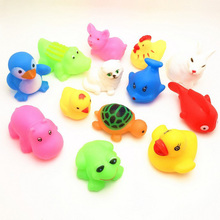 13PCS/LOT Different Summer Water Action Figures,3-15CM  Animals Toys Safety Evade Glue For Children Swimming  Toys