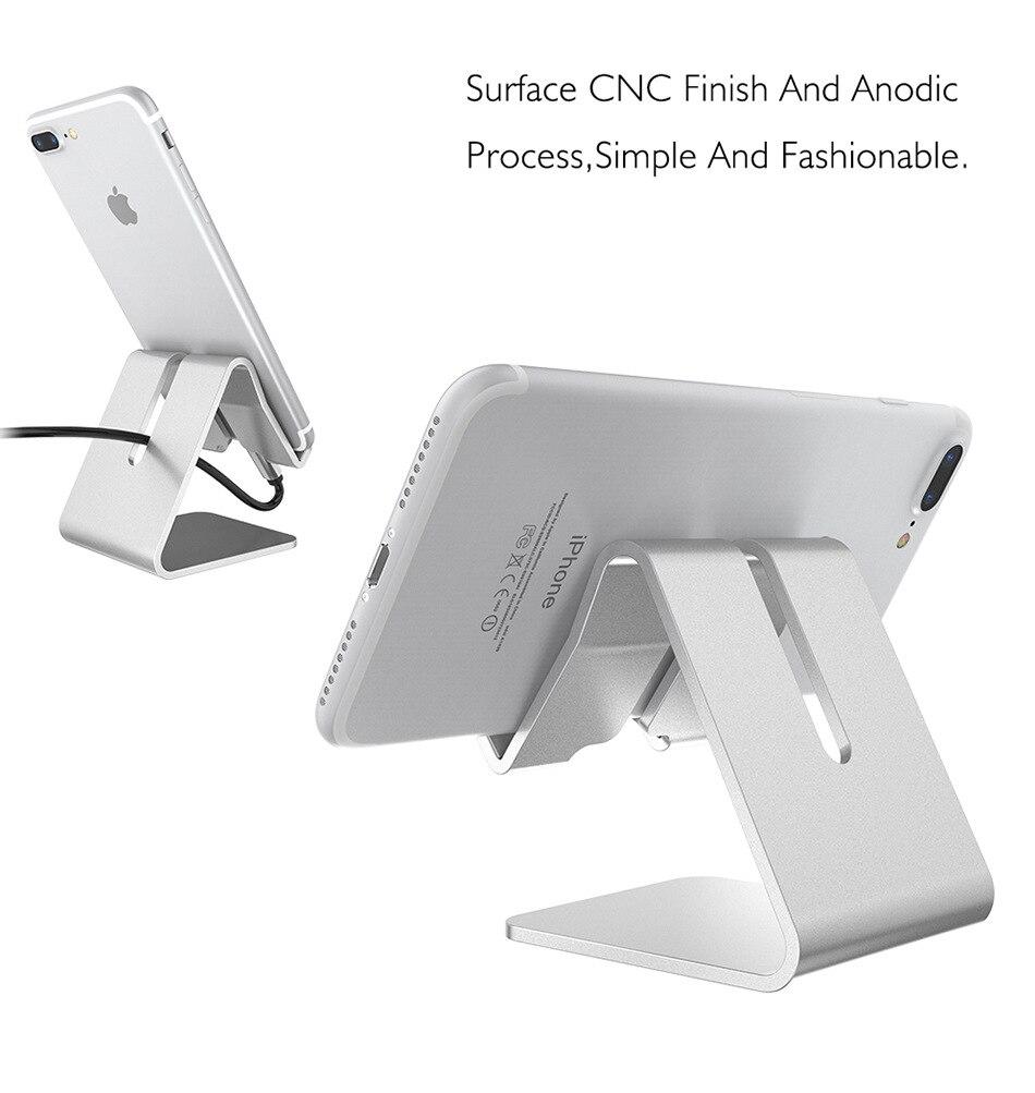 Aluminum Alloy Desk Stand Holder for Senseit A247 for BQ BQ-4072 Strike for Fly Nimbus 14 (FS456) Desk Phone Holder Stand