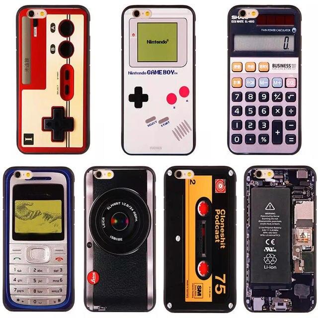 Retro Klassieke Jongen Game Camara Cassette 3D Cartoon Gedrukt Gevallen voor Apple iPhone 6 6 s plus 6 plus 5 5g 5 s se Mobiele Telefoon Gevallen