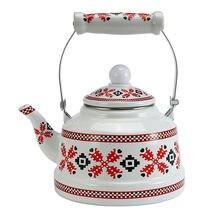 Эмалированный чайник с плетеным узором 25 л кофейник китайский