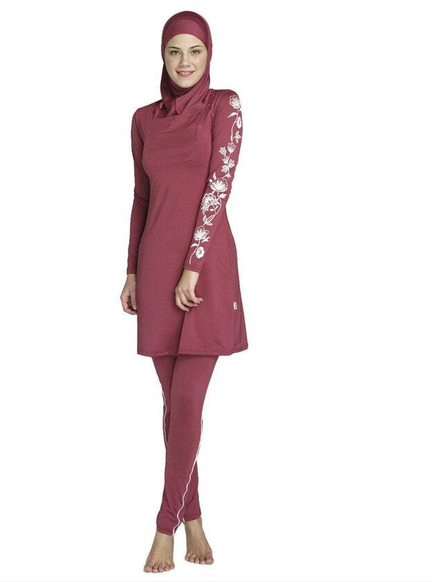Women Plus Size Leopard Muslim Swimwear 2017 New Custom For Women Plain Color Islamic Swimsuit Arabic Sports Swimwear make difference leopard print islamic swimsuit arab swimwear 2 pieces connected hijab muslim swimsuit burkinis for women girls