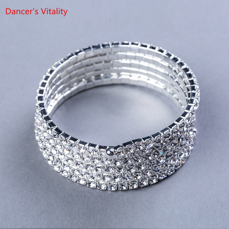 Professional Belly Dance Spiral Round Diamond Bracelet Accessories Dance Accessories Belly Dance Competition Accessories