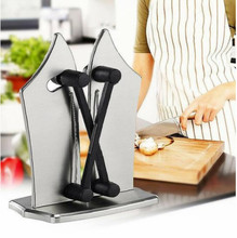 Knife Sharpener  Kitchen Knife Sharpener As Seen On TV Knife Sharpening Tools Support Dropshipping kme knife sharpener professional sharpening knife portable 360 degree rotation fixed angle apex edge knife sharpener with stones