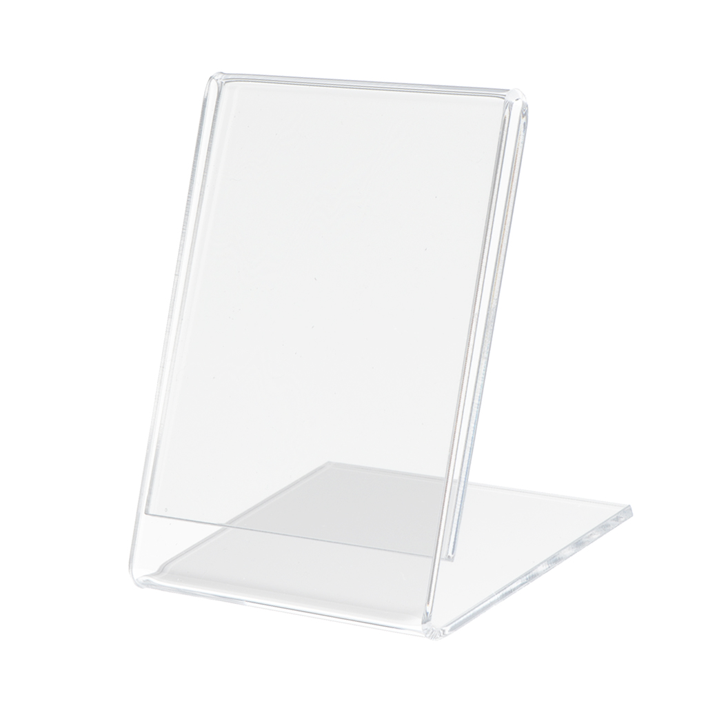 Slant Back Acrylic Sign Holders Name Card Leaflet Menu Office Business Display Showcase Pictures And Advertisements
