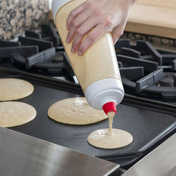 Utensilio de cocina para pasteles y galletas, batidora de mano, batidora de botellas, batidora de crema, recipiente para revolver, Muffin, agitador, botella con escala de 1000mL