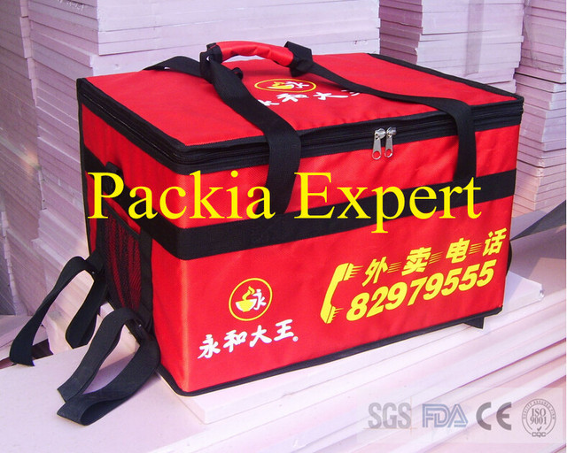 45*35*30cm with Plywood support  Pizza thermal insulation bag ,  Food delivery bag for pizza or cake or juice  hot style