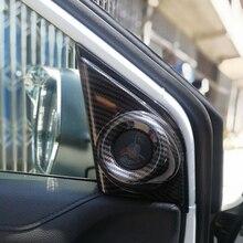 For Honda CR-V CRV 2017 2018 ABS Carbon Fibre Interior Door Triangle Stereo Speaker Frame Cover Trim Car Styling accessories