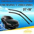 """Escovas Para MAZDA 3 (2003-2008) 2004 2005 2006 2007 Car Windscreen Windshield Wiper Blade 21 """"+ 19"""" acessórios de Carros estilo"""