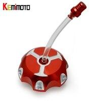 KEMiMOTO Fuel Tank Cap For Yamaha 350 BANSHEE 350 AND BLASTER 200 Billet Aluminum Oil Gas