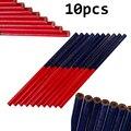 10 шт./лот синий и красный свинцовые столярные карандаши для DIY строителей столяров деревообрабатывающие толстые круглые отметки Карандаш О...