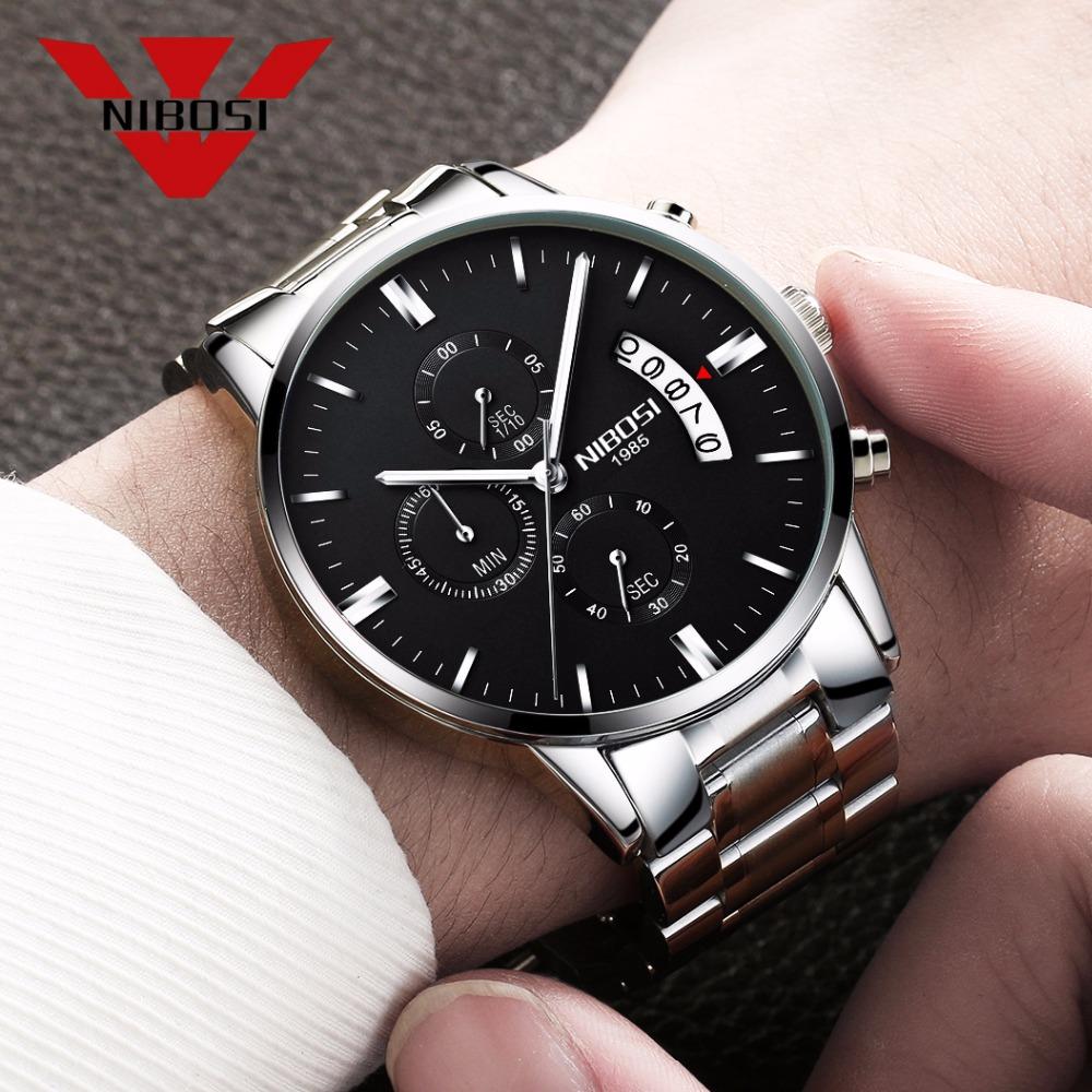Relojes de hombre NIBOSI Relogio Masculino, relojes de pulsera de cuarzo de estilo informal de marca famosa de lujo para hombre, relojes de pulsera Saat 31
