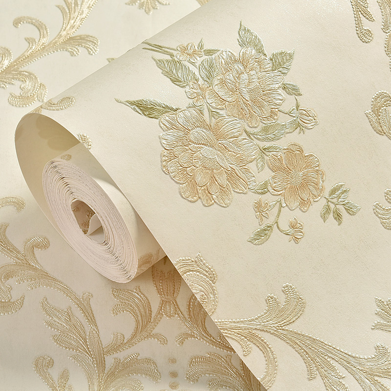 Купить с кэшбэком European Damask Floral Wall Papers Home Decor Luxury Wallpaper Roll for Living Room Bedroom Walls Contact Papel Mural