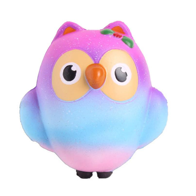 Newest 10CM Lovely Chromatic Owl Cream Scented Slow Rising Squeeze Toys Collection wholesale funny gadgets 2018