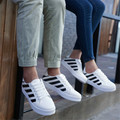 Nuevos zapatos de Los Hombres 2016 zapatos casuales de cuero parejas zapatos de cabeza redonda con de estudiantes zapatos planos calzado deportivo tenis femenino