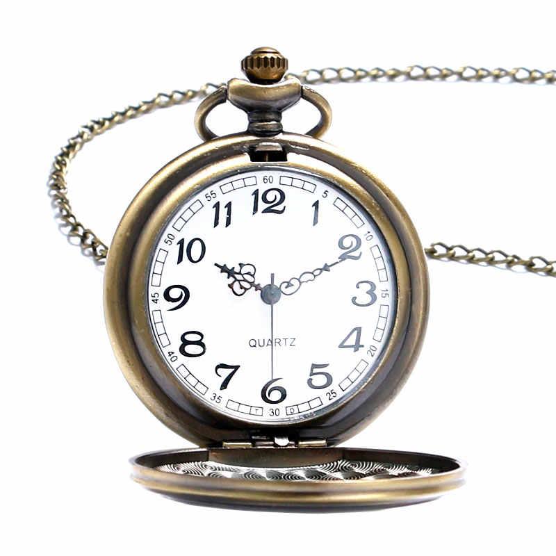 Карманные часы ретро Хари Поттер кварцевые аналоговые с круглым циферблатом Творческий цепочки и ожерелья подарки специальный дизайн для веер