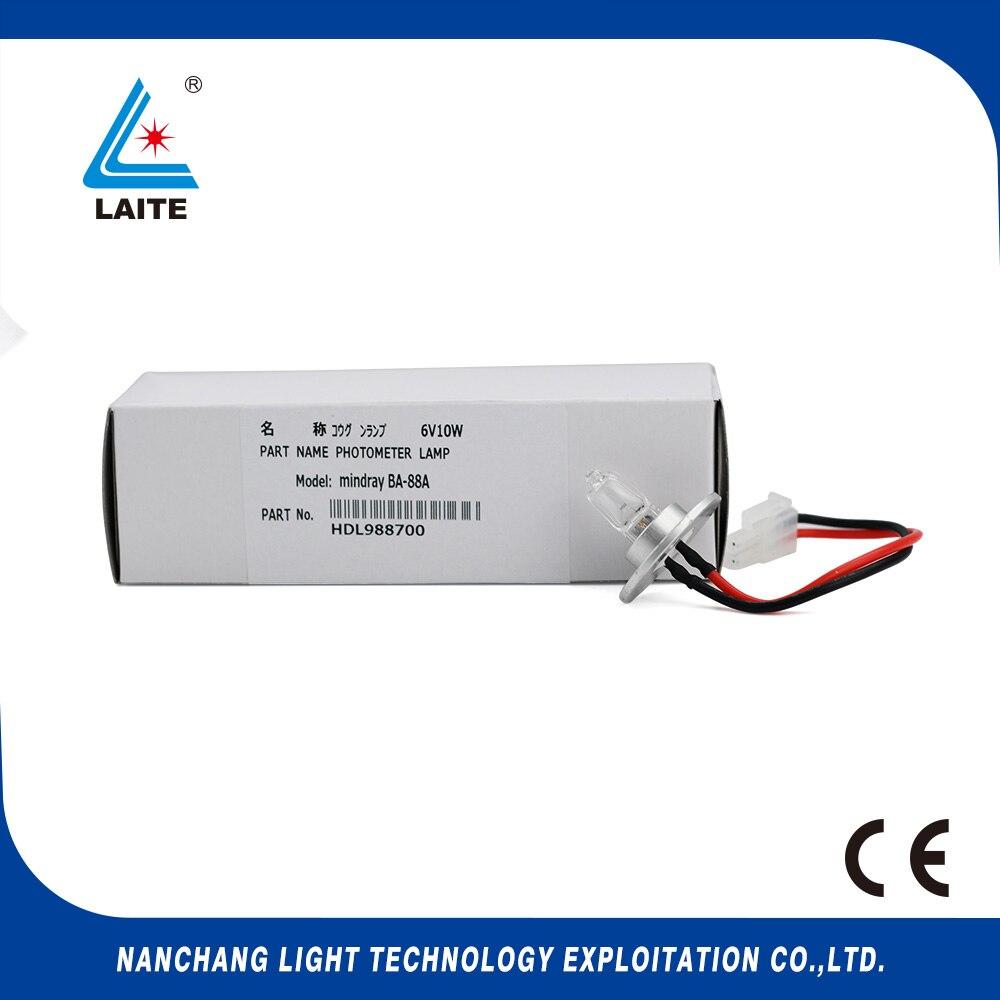 MIndray BA-88A 6V10W lâmpada halógena Semi-auto analisador da bioquímica BA88A 6 V 10 W free shipping-3pcs