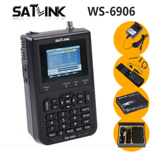 Оригинал Satlink WS-6906 3.5 ЖК-DVB-S FTA цифровой спутниковый сигнал WS 6906 спутниковый искатель метр Бесплатная доставка