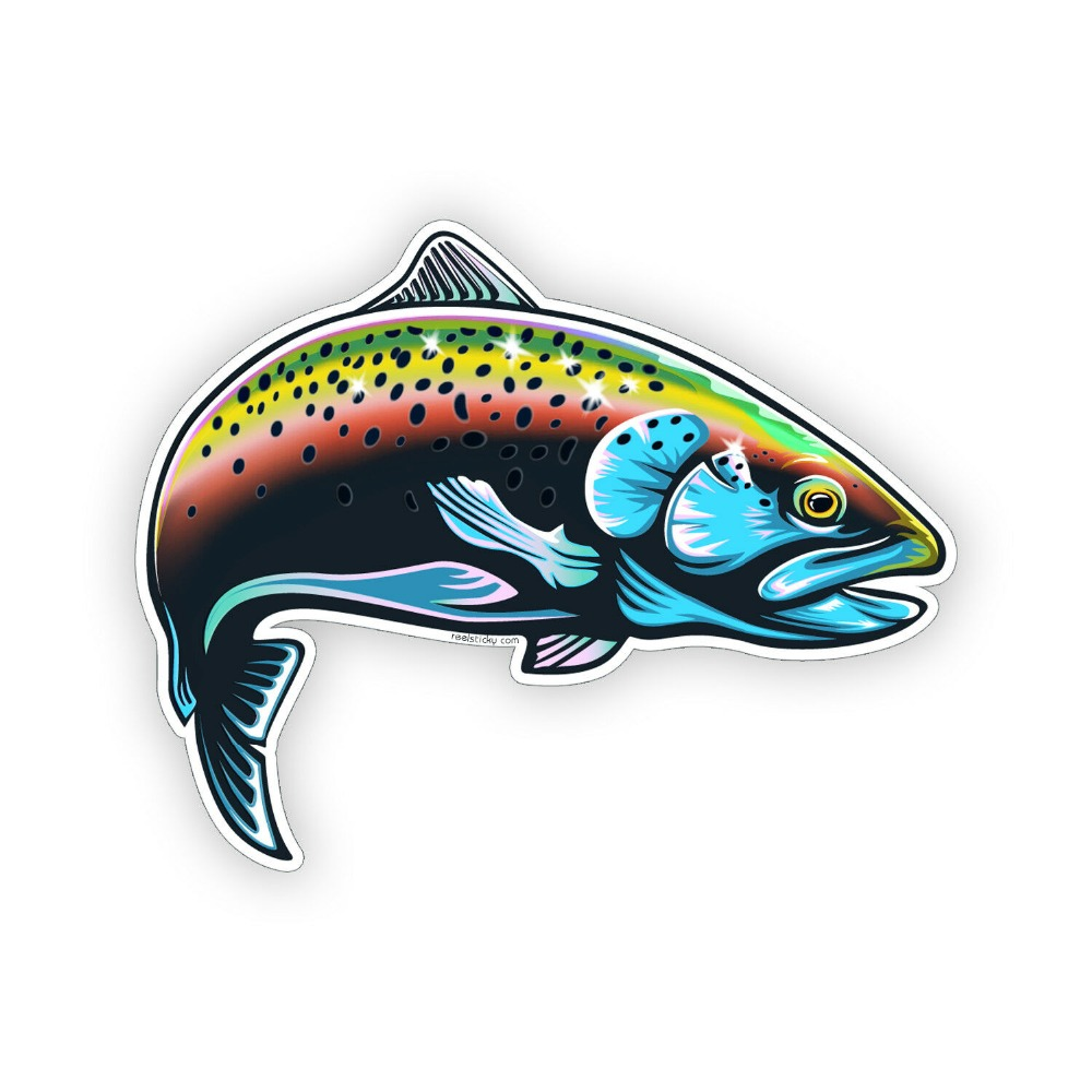 Rainbow Trout Fish Sticker Laptop Cup Cooler Boat Tackle Box Car Window Decal