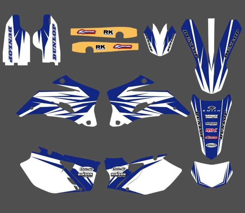 Graphique et Milieux AUTOCOLLANTS Kits Pour Yamaha WR250F WR450F 2007 2008 2009 2010 2011 WR 250F 450F WR250 WR450 F