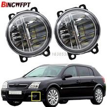 2x Car Exterior Accessories White 6000K LED Fog Lamps Light For OPEL Agila B Signum Tigra Twntop Vectra C