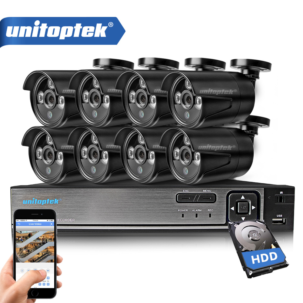 8CH 720P AHD DVR Kit CCTV System With 8PCS 1.0MP HD Security Camera IR Night View Outdoor Waterproof Video Surveillance CCTV Set h view 8ch cctv surveillance system1080p ahd dvr 8pcs cctv cameras 1 0 mp enhanced ir security camera system with 1tb hdd