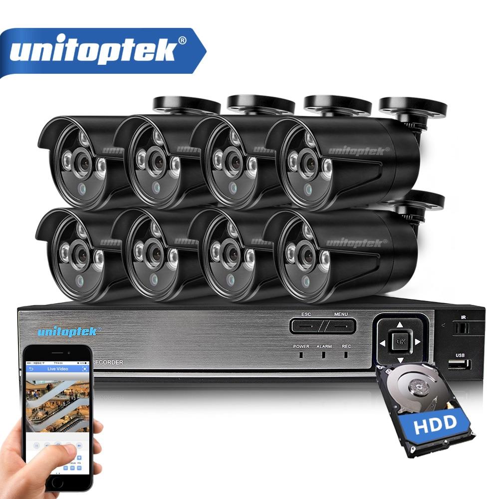 все цены на 8CH 720P AHD DVR Kit CCTV System With 8PCS 1.0MP HD Security Camera IR Night View Outdoor Waterproof Video Surveillance CCTV Set онлайн