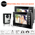 "New 7"" Wired Video Door Phone Intercom System Handsfree Audio Intercom 1-Out 2-In For Home Office Warehouse Intercom"