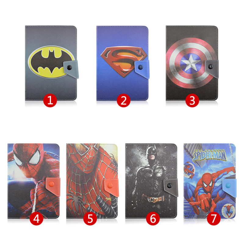 For ARCHOS 101 Neon/101 Xenon/101 XS 2 10.1 Universal Tablet PU Leather Magnetic Cover Case Spiderman Superman pattern S4A92D купить