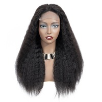 Peruvian Lace Front Human Hair Wigs with Baby Hair 4*4 Remy Kinky Straight Wigs Brazilian Lace Front Wigs