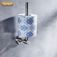 Top High Quality 304 SS Material Chrome Finished Wall Mounted Bathroom Paper Holder Bathroom Accessories 4189