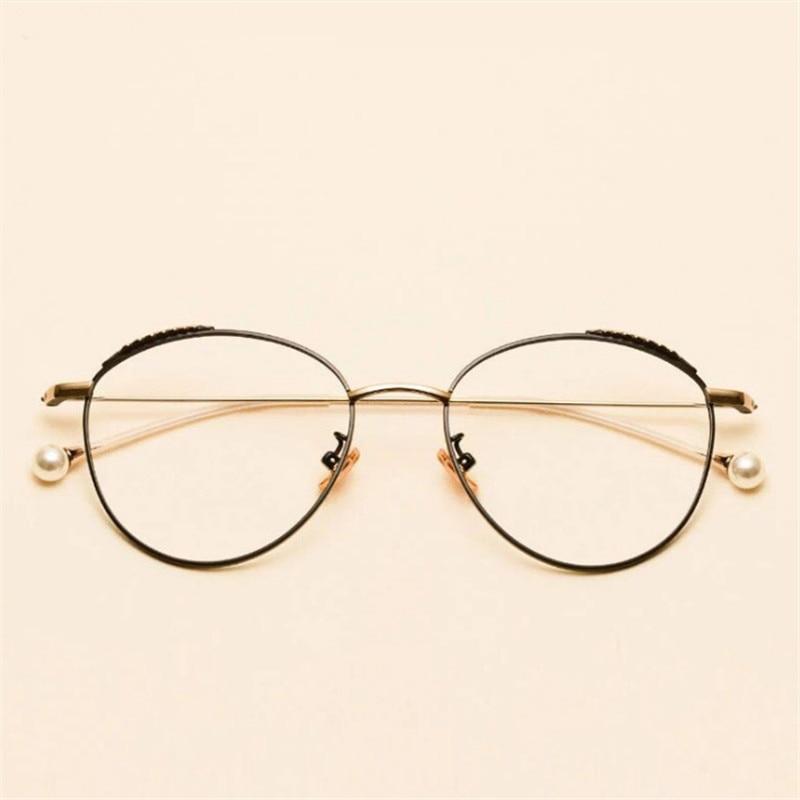 Fashionable round glasses Metal circular alloy glasses women Myopia frame prescription Beautiful glasses frame in Women 39 s Eyewear Frames from Apparel Accessories