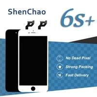 5 sztuk Dla iPhone 6 S Plus Dotykowy 5 ''Ekran LCD Z 3D biały Czarny Panel Wyświetlacza Dla iPhone 6sp Zgromadzenie Wymiana Telefonu komórkowego